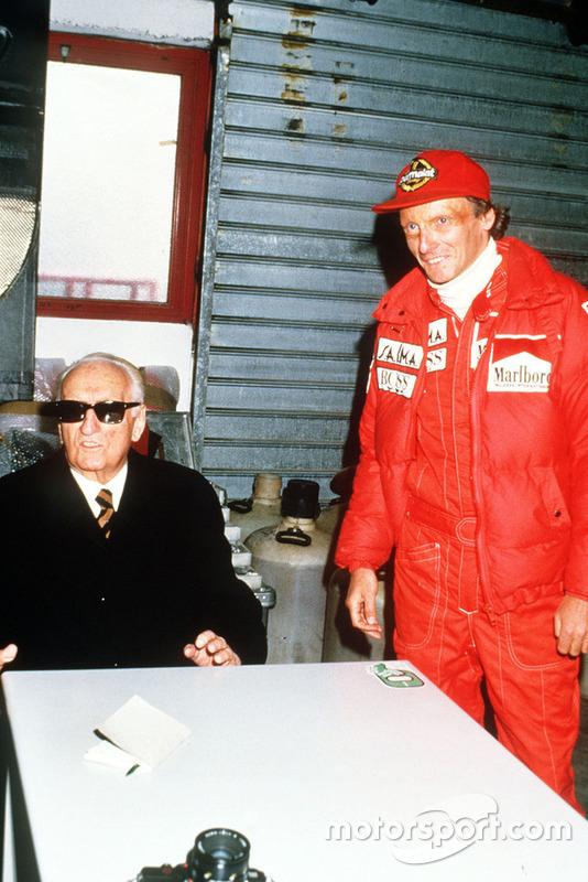 Enzo Ferrari con Niki Lauda, Ferrari