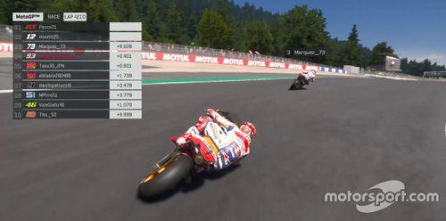 Carrera virtual de MotoGP en Mugello