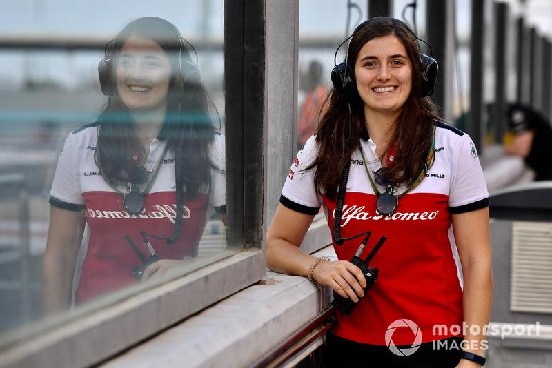 Tatiana Calderon, piloto de pruebas de Sauber para 2019