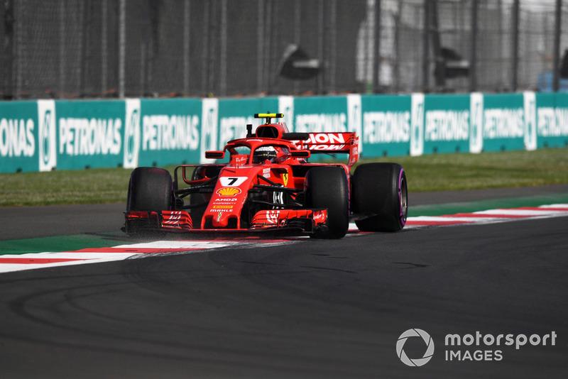 8. Kimi Räikkönen, Ferrari SF71H spins