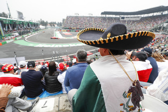 A Mexican cheers through the action complete with Sombrero