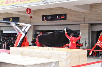 Ferrari pit box preparations