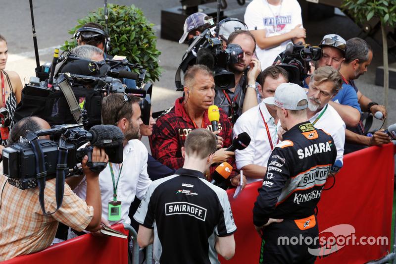 Nico Hulkenberg, Sahara Force India F1 con Kai Ebel, Presentatore RTL TV