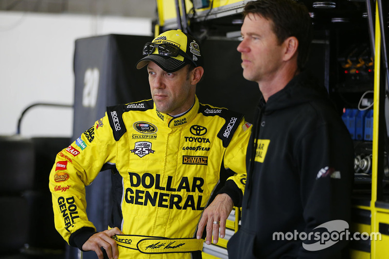Matt Kenseth, Joe Gibbs Racing, Toyota, mit Crewchief Jason Ratcliff
