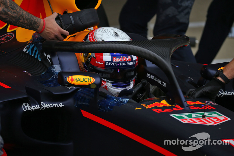 Pierre Gasly, Red Bull Racing RB12, Halo testi