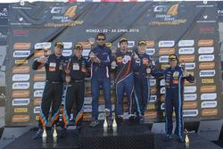 Podium: tweede plaats Duncan Huisman, Luc Braams, V8 Racing International, Chevrolet Camaro GT4; winnaar Romain Monti, Maserati Spa, Maserati GranTurismo MC GT4; derde plaats Jelle Beelen, Marcel Nooren, V8 Racing International Chevrolet Camaro GT4