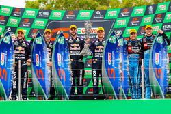 Podium: race winners Jamie Whincup, Paul Dumbrell, Triple Eight Race Engineering Holden, second place Shane van Gisbergen, Alexandre Prémat, Triple Eight Race Engineering Holden, third place Scott McLaughlin, David Wall, Garry Rogers Motorsport Volvo