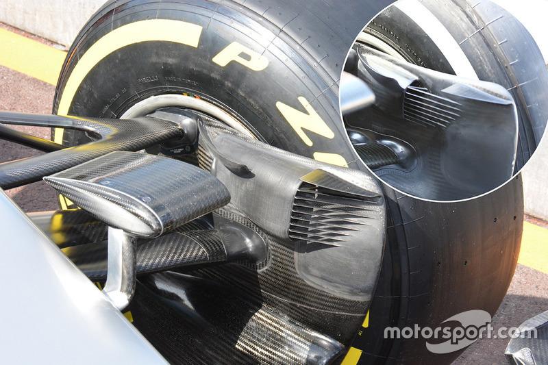 Mercedes AMG F1 W07, vordere Bremsbelüftung