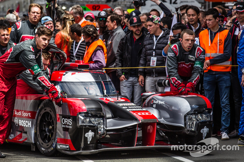 #8 Audi Sport Team Joest rolled to the starting grid