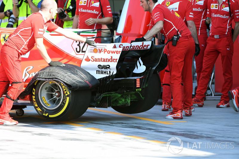 L'arrière de la Ferrari SF70H