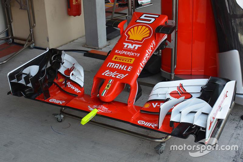Sebastian Vettel, Ferrari SF16-H front wing detail