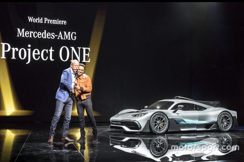 Dr. Dieter Zetsche, Lewis Hamilton, Mercedes-AMG Project ONE