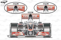 McLaren MP4-24 2009 launch-spec front view