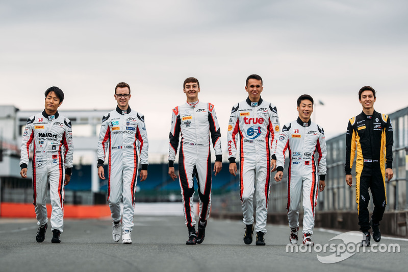 Jack Aitken, ART Grand Prix, Nirei Fukuzumi, ART Grand Prix, George Russell, ART Grand Prix, Anthoine Hubert, ART Grand Prix