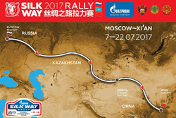 2017 Silk Way Rally route map