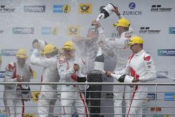 Podium: #29 Audi Sport Team Land-Motorsport, Audi R8 LMS: Christopher Mies, Connor De Phillippi, Markus Winkelhock, Kelvin van der Linde