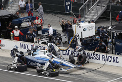 Max Chilton, Chip Ganassi Racing Honda, au stand