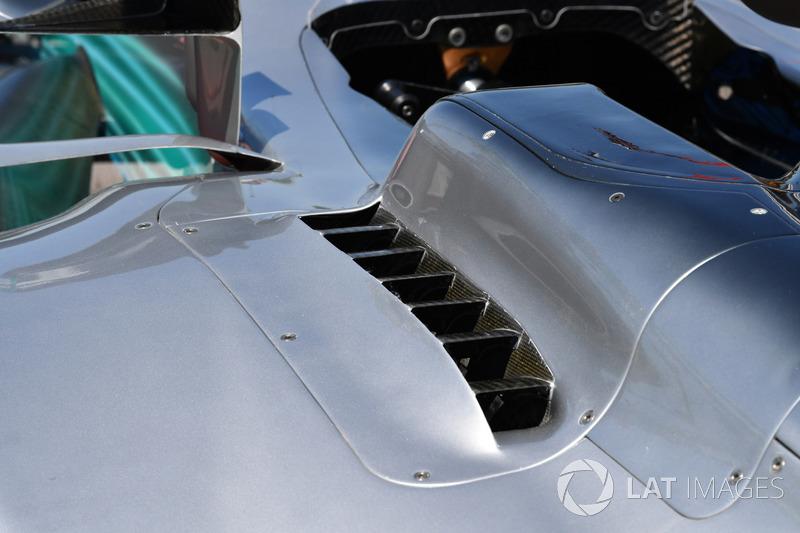 Mercedes-Benz F1 W08: Kühlung