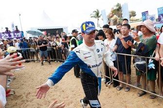 Antonio Felix da Costa, BMW I Andretti Motorsports, makes his way to the podium