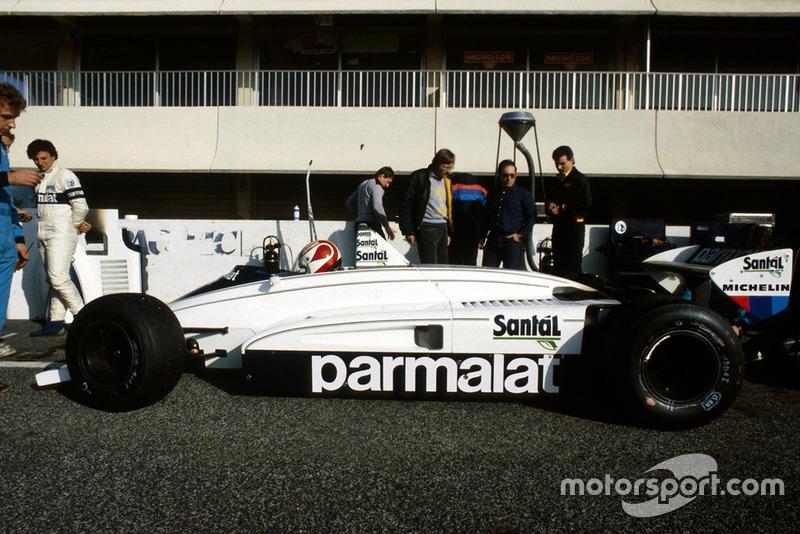 Nelson Piquet , Brabham BMW BT51, as teammate Riccardo Patrese, looks on