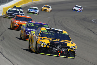 Erik Jones, Joe Gibbs Racing, Toyota Camry DeWalt, Denny Hamlin, Joe Gibbs Racing, Toyota Camry FedEx Ground and Daniel Suarez, Joe Gibbs Racing, Toyota Camry ARRIS