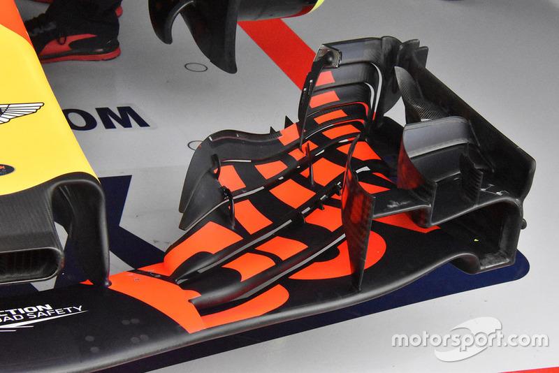 Detail sayap depan Red Bull Racing RB14