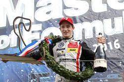 Podium: Race winner Joel Eriksson, Motopark Dallara F316 – Volkswagen