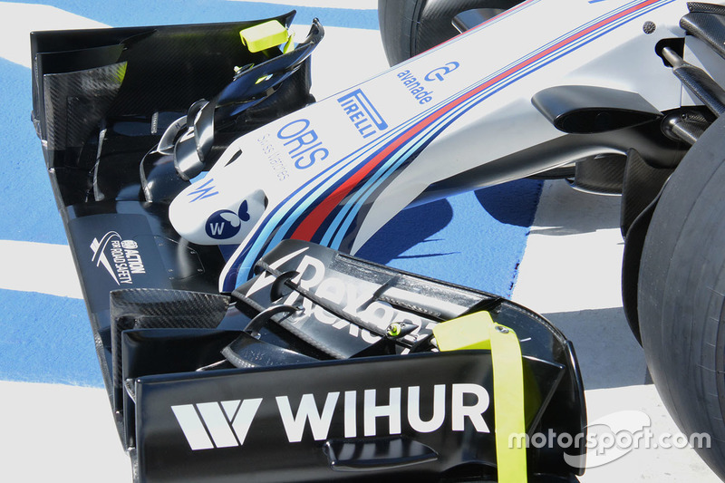 Williams FW38 nose detail