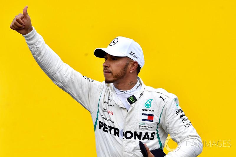 Lewis Hamilton, Mercedes-AMG F1 celebrates in parc ferme