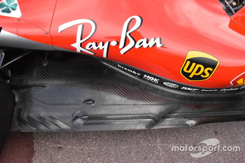 Lantai Ferrari SF71H.