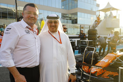Eric Boullier, Racing Director, McLaren, Sheikh Mohammed bin Essa Al Khalifa