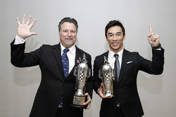 Michael Andretti and 2017 Indy 500 winner Takuma Sato
