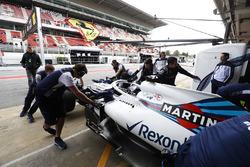 Lance Stroll, Williams Racing, au stand