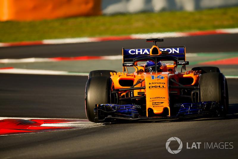 3º Fernando Alonso, McLaren MCL33: 1:17.784 (Hiperblandos)
