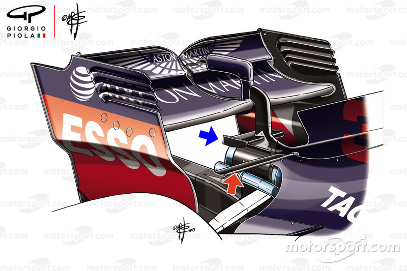 Заднее крыло Red Bull RB14