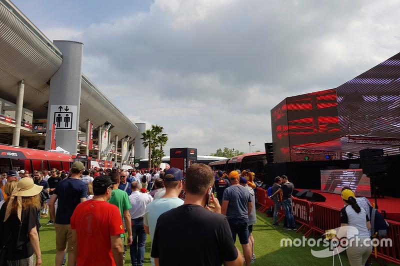 Suasana F1 Fanzone di Barcelona