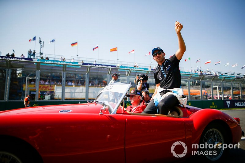Robert Kubica, Williams Racing, en el desfile de pilotos
