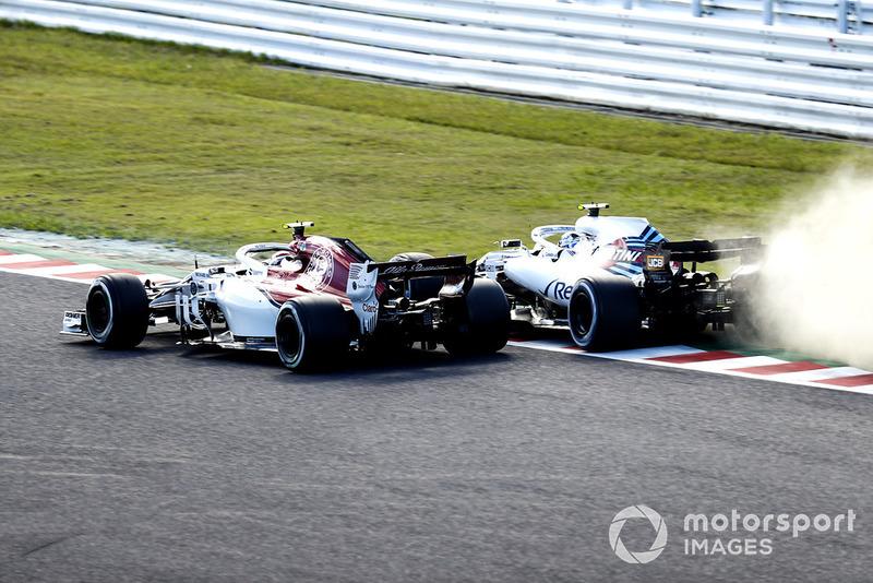 Сергей Сироткин, Williams FW41, и Шарль Леклер, Alfa Romeo Sauber C37