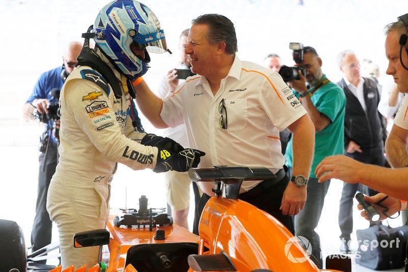 Jimmie Johnson, McLaren e Zak Brown