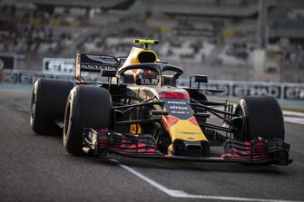Max Verstappen, Red Bull Racing RB14, sur la grille