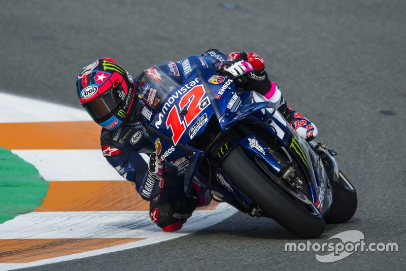 Maverick Viñales (Yamaha Factory Racing) avec son nouveau numéro