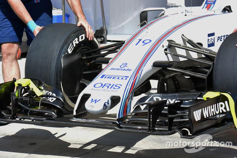Williams FW38, Detail der Frontpartie