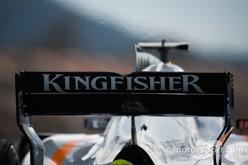 Esteban Ocon, Sahara Force India F1 VJM10 rear wing