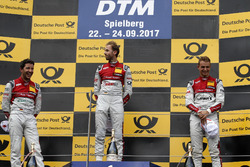 Podium: Race winner René Rast, Audi Sport Team Rosberg, Audi RS 5 DTMm second place Mike Rockenfeller, Audi Sport Team Phoenix, Audi RS 5 DTM, third place Nico Müller, Audi Sport Team Abt Sportsline, Audi RS 5 DTM