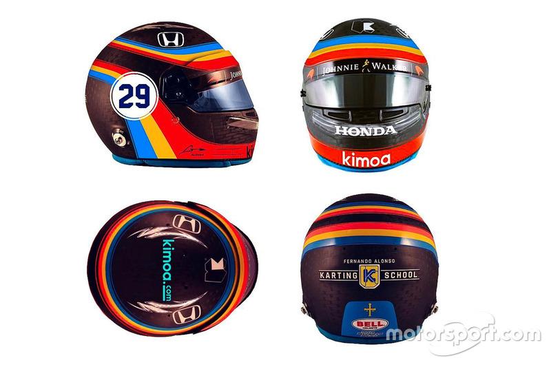 Fernando Alonso Indy 500 kask tasarımı