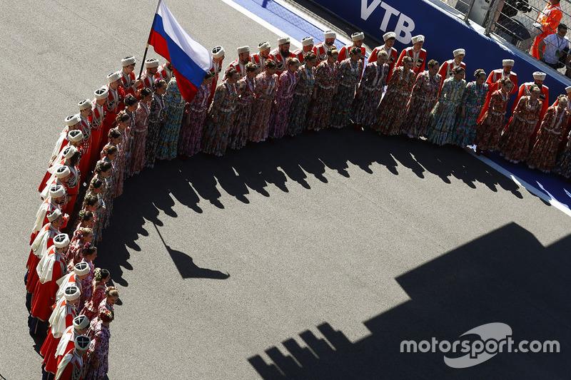Pre race grid celebration