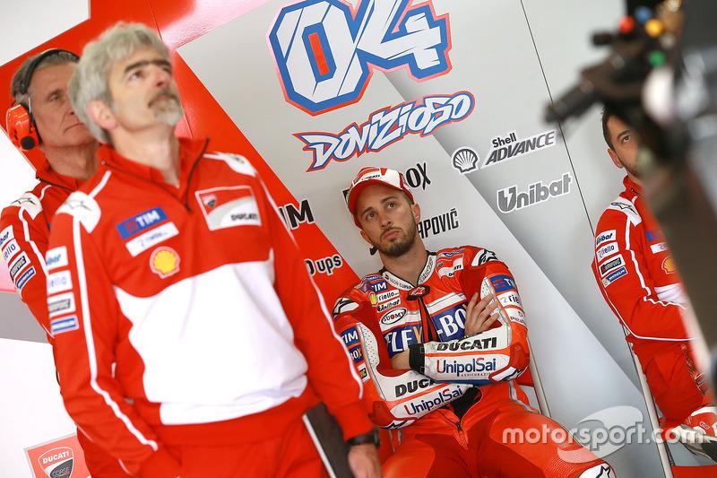 Gigi Dall'Igna, Ducati Team, Geschäftsführer; Andrea Dovizioso, Ducati Team