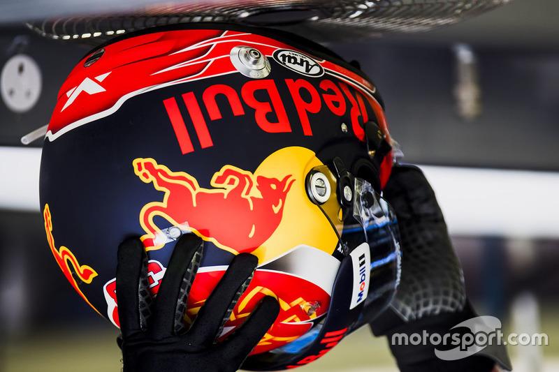 The helmet of Max Verstappen, Red Bull