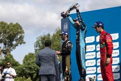 Podium: Race winner Sébastien Buemi, Renault e.Dams; second place Jean-Eric Vergne, Techeetah; third place Lucas di Grassi, ABT Schaeffler Audi Sport