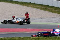 Ausfall: Esteban Ocon, Sahara Force India F1 VJM10